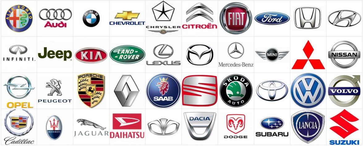 Autojen Logot